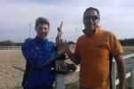 Criterium di Santa Marinella 2014 il vincitore Giordano Burocchi con Roberto Petito