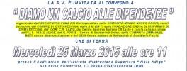 """CONVEGNO """"DIAMO UN CALCIO ALLE DIPENDENZE"""" 25.03.2015"""
